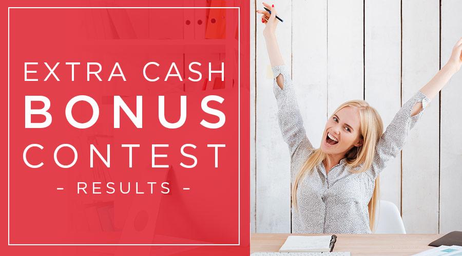 Wayal's Extra Cash Bonus Contest Rewards